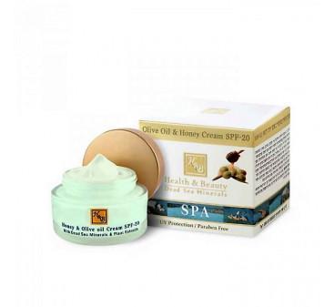 Crème d'huile d' olive et de miel SPF20 50ML